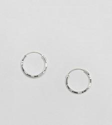 Kingsley Ryan Sterling Silver 20MM Diamond Cut Hoop Earrings - Silver