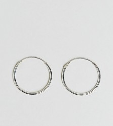 Kingsley Ryan Sterling Silver 20mm Fine Hoop Earrings - Silver