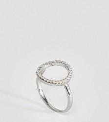 Kingsley Ryan Sterling Silver Cut Out Rhinestone Ring - Silver