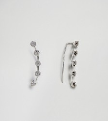 Kingsley Ryan Sterling Silver Diamante Ear Climber - Silver