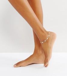 Kingsley Ryan Sterling Silver Disc Anklet - Silver