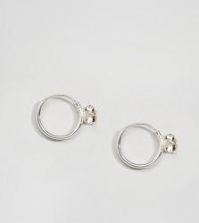 Kingsley Ryan Sterling Silver Gem Set Hoop Earrings - Silver