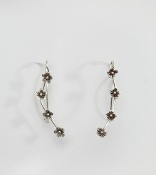 Kingsley Ryan Sterling Silver Mini Flower Ear Climber - Silver