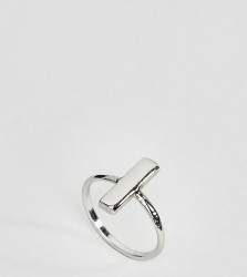 Kingsley Ryan Sterling Silver Minimal Bar Ring - Silver