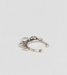 Kingsley Ryan Sterling Silver Ornate Faux Septum Ring - Silver