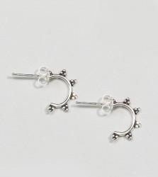 Kingsley Ryan Sterling Silver Ornate Hoop Earrings - Silver