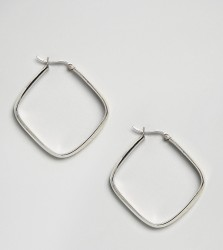 Kingsley Ryan Sterling Silver Square Hoop Earrings - Silver