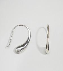 Kingsley Ryan Sterling Silver Teardrop Through & Through Earrings - Silver