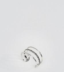 Kingsley Ryan Sterling Silver Triple Bar Thumb Ring - Silver