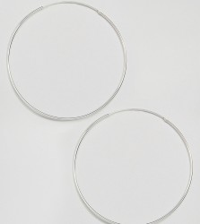 Kingsley Ryan Sterling Silver XL 85MM Hoop Earrings - Silver