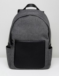 Kiomi Backpack With Faux Leather Trims - Grey