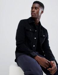 Kiomi Cord Jacket In Black - Black