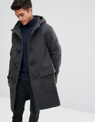 Kiomi Duffle Coat In Grey - Grey