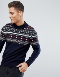 Kiomi Fair Isle Jumper In NAvy - Navy
