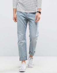 Kiomi Jeans in Relaxed Fit - Blue