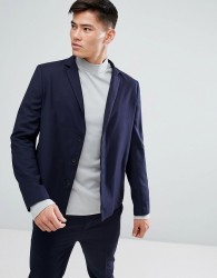 Kiomi Jersey Suit Jacket In Navy - Navy