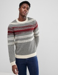 Kiomi Jumper In Mixed Stripe - Grey