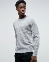 Kiomi Knitted Jumper with Pocket - Grey