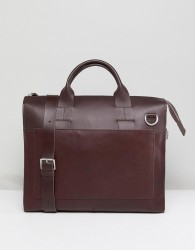 Kiomi Leather And Canvas Satchel In Brown - Brown