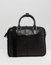 Kiomi Leather Laptop Bag In Black - Black
