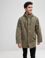 Kiomi Lightweight Parka In Khaki - Green