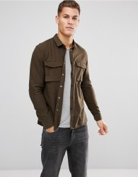 Kiomi Military Shirt in Regular Fit - Green