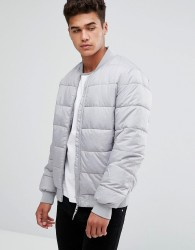 Kiomi Padded Jacket In Grey - Grey