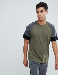 Kiomi Raglan T-Shirt In Khaki - Green