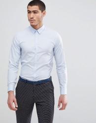 Kiomi Slim Fit Stretch Shirt In Light Blue - Blue