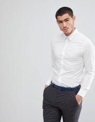Kiomi Slim Fit Stretch Shirt In White - White