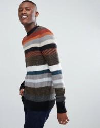 Kiomi Stripe Jumper With Multi Texture - Multi