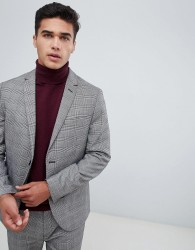 Kiomi Suit Blazer In Grey Check - Grey