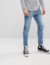 Kiomi Super Skinny Jeans In Light Wash - Blue