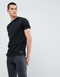 Kiomi T-Shirt In Black With Popper Detail - Black