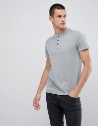 Kiomi T-Shirt In Light Grey With Popper Detail - Grey