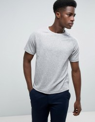 Kiomi T-Shirt In Towelling Fabric With Raglan Sleeves - Grey