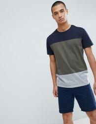 Kiomi T-Shirt with Colour Block - Navy
