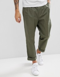 Kiomi Tapered Trouser with Double Pleat - Green