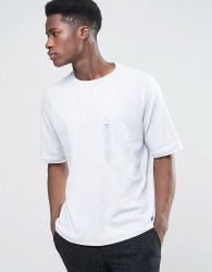 Kiomi Technical T-Shirt with Zip Pocket - Grey