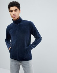 Kiomi Velour Track Top - Navy