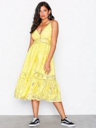 Kiss The Sky Buttercup Midi Dress Loose fit dresses Yellow