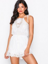 Kiss The Sky Delicate Touch Playsuit Playsuits White