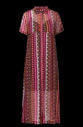 Kjole i lang skjortemodel