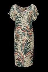 Kjole i mønstret, vævet kvalitet