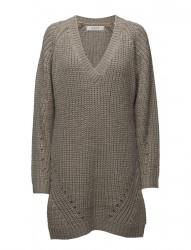 Knit Dress With Deep V-Neck