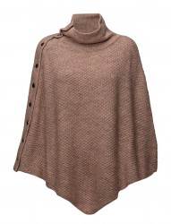 Knit Poncho W Buttons