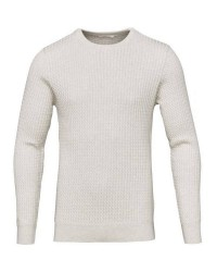Knowledge Cotton Apparel Cotton cashmere cable 80440 (HVID, MEDIUM)