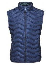 Knowledge Cotton Apparel PET wave quilted vest 92245 (MØRKEBLÅ, MEDIUM)