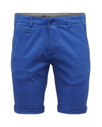 Knowledge Cotton Apparel Stretch chino shorts 50115 (BLÅ, 34/86)