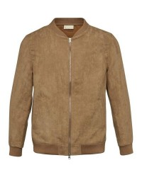Knowledge Cotton Apparel Suede Jacket - GRS (Lysebrun, LARGE)